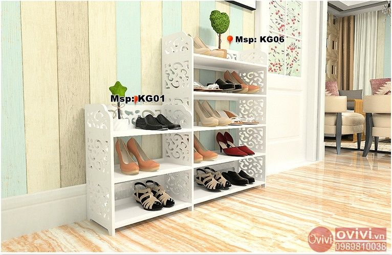 giá để giày đẹp hoa văn