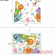 decal dán tường hình con vật cho bé tại Hà Nội